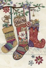 "Incognito Cards AMY'S CARDS-Christmas-Christmas Socks-Blank(6.5""X4.6"")"