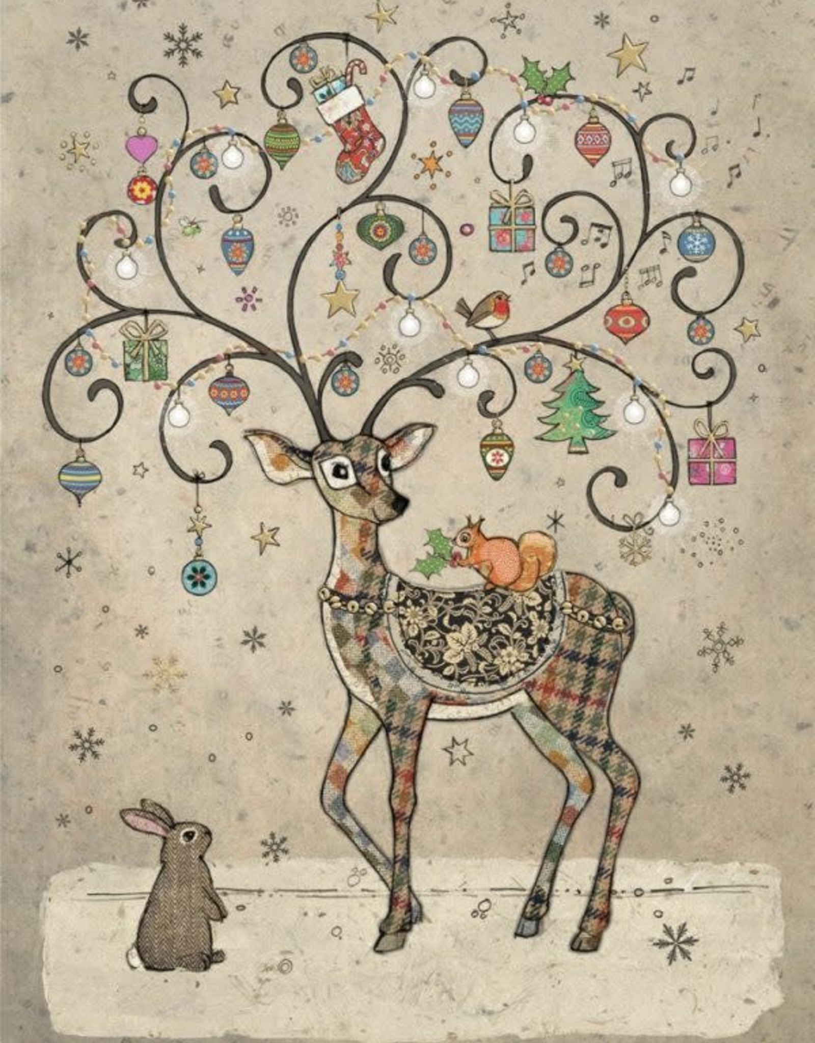 "Incognito Cards CHRISTMAS-Deer-Blank(5""X7"")"
