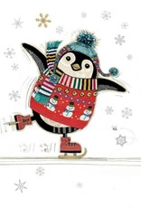 "Incognito Cards CHRISTMAS-Penguin Skater-Blank(5""X7"")"