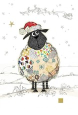 "Incognito Cards CHRISTMAS-Santa Sheep-Blank(5""X7"")"