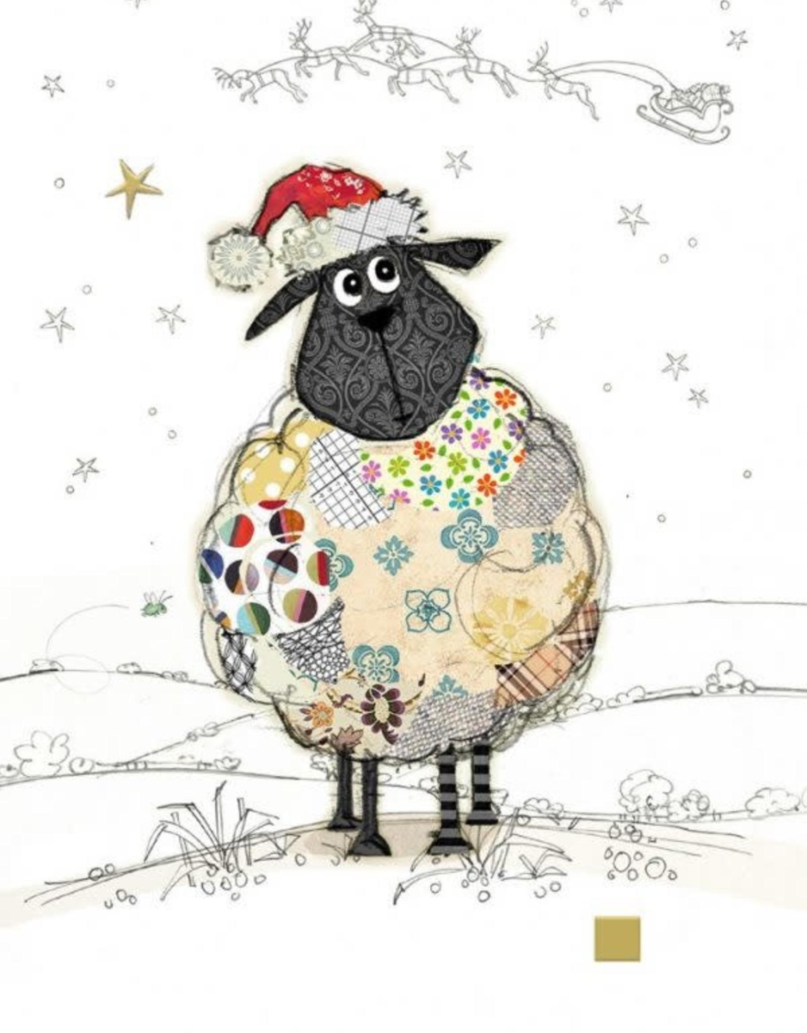"""Incognito Cards CHRISTMAS-Santa Sheep-Blank(5""""X7"""")"""