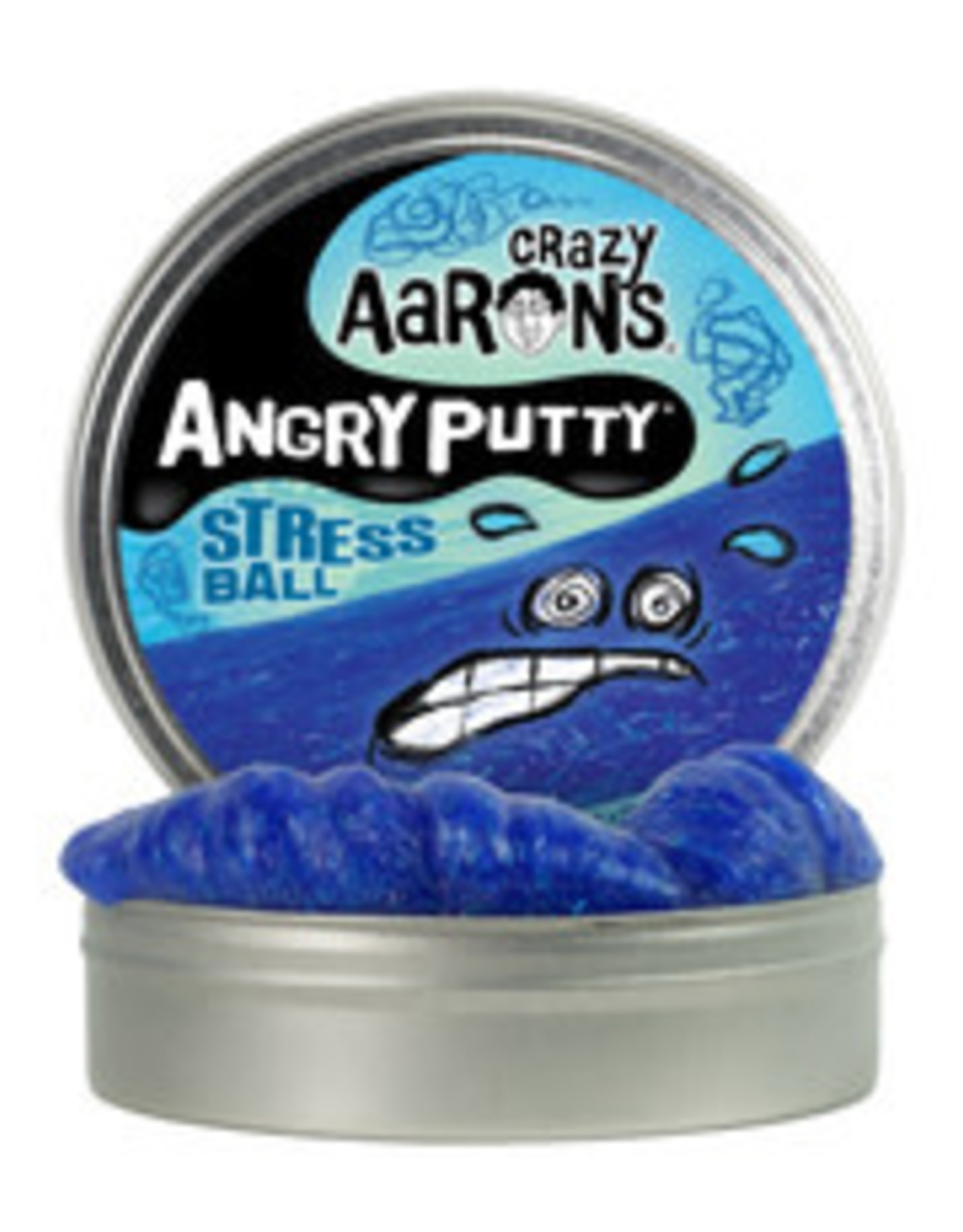Crazy Aaron's Thinking Putty 4'' Angry Putty - Stress Ball