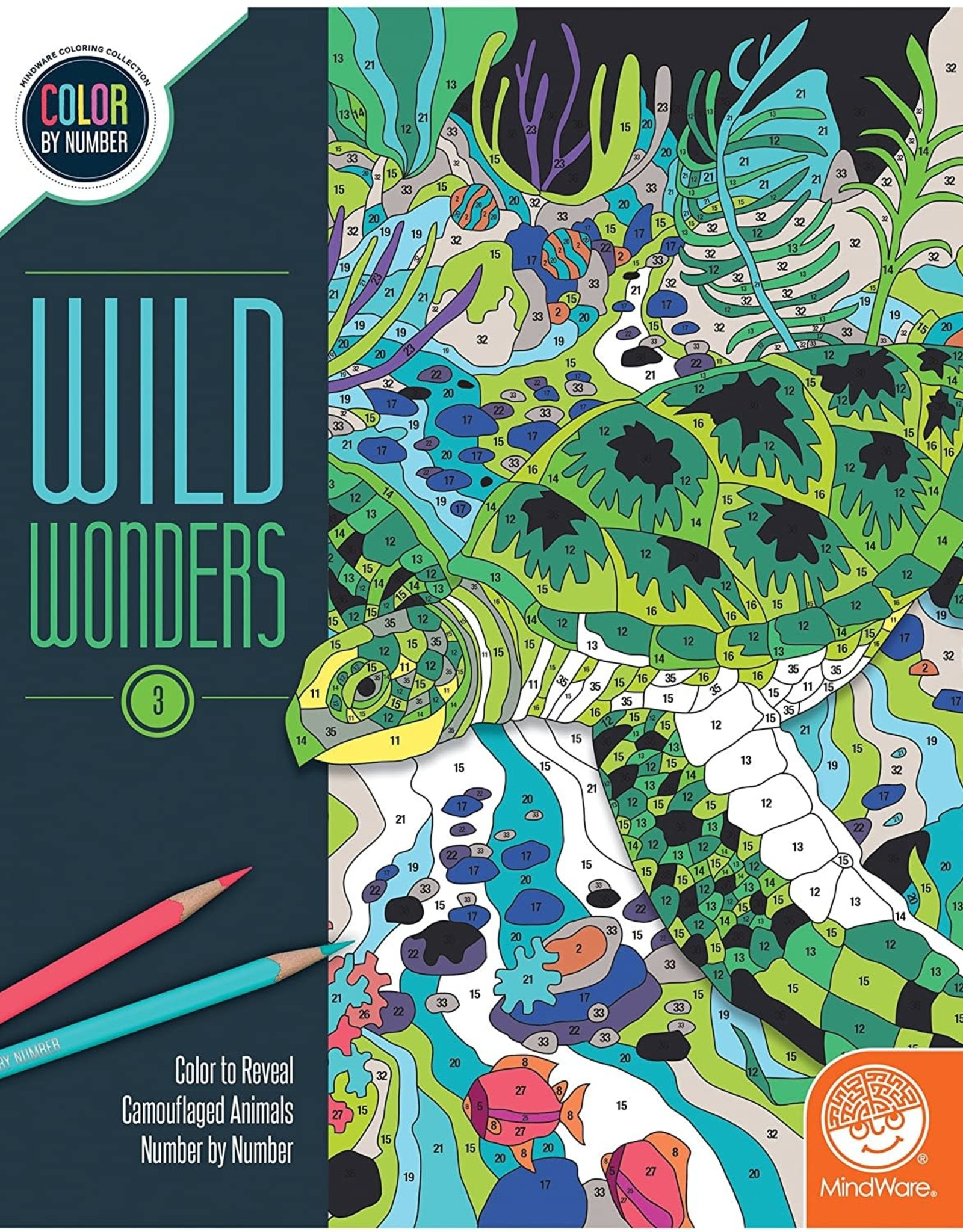 MindWare Colour By Number Wild Wonders: Book 3