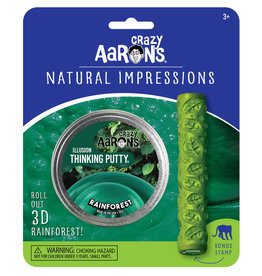 Crazy Aaron's Thinking Putty Natural Impressions - Rain Forest
