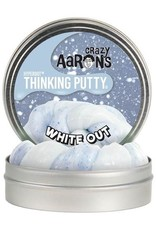 """Crazy Aaron's Thinking Putty 4"""" White Out Hyperdot Color Shock"""