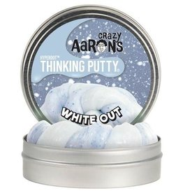 "Crazy Aaron's Thinking Putty 4"" White Out Hyperdot Color Shock"