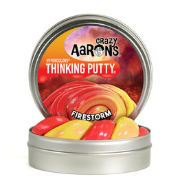 "Crazy Aaron's Thinking Putty 4"" Fire Storm - Heat Sensitive Hypercolor"