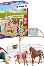 Schleich Schleich - Horse Club Hannah's Guest Horses w/Ruby the Dog