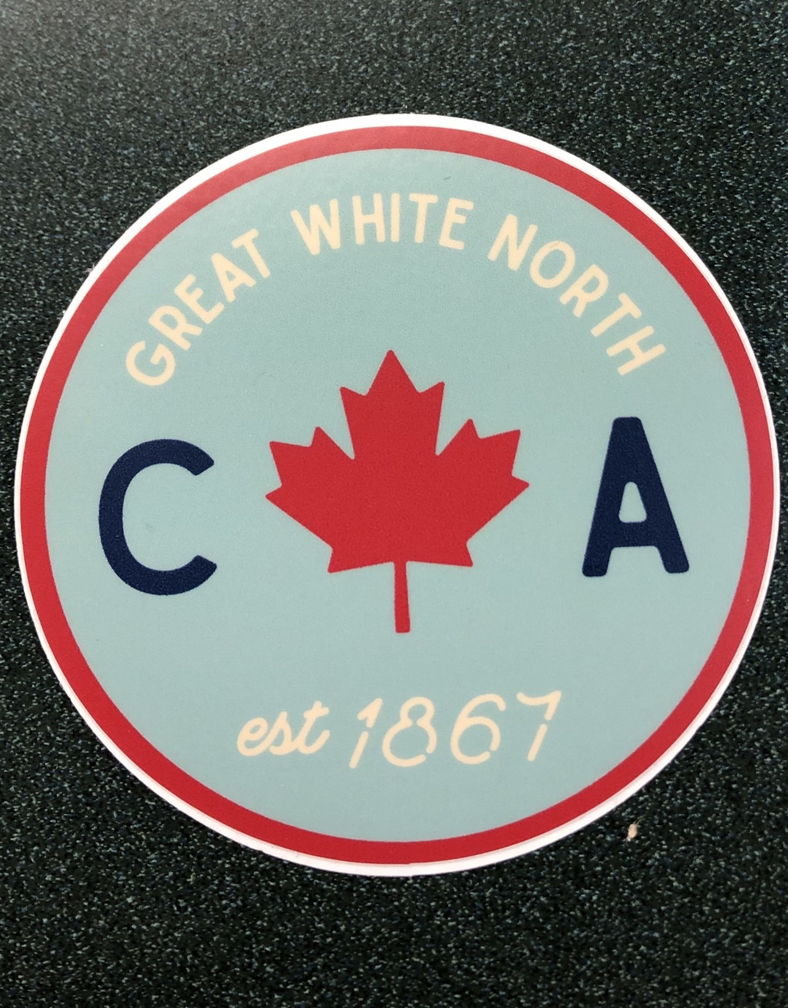 Stickers NW Circle Leaf EST Canada
