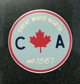 Stickers NW Circle Leaf EST Canada