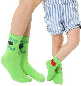 Living Royal Mini + Me Socks: Apple