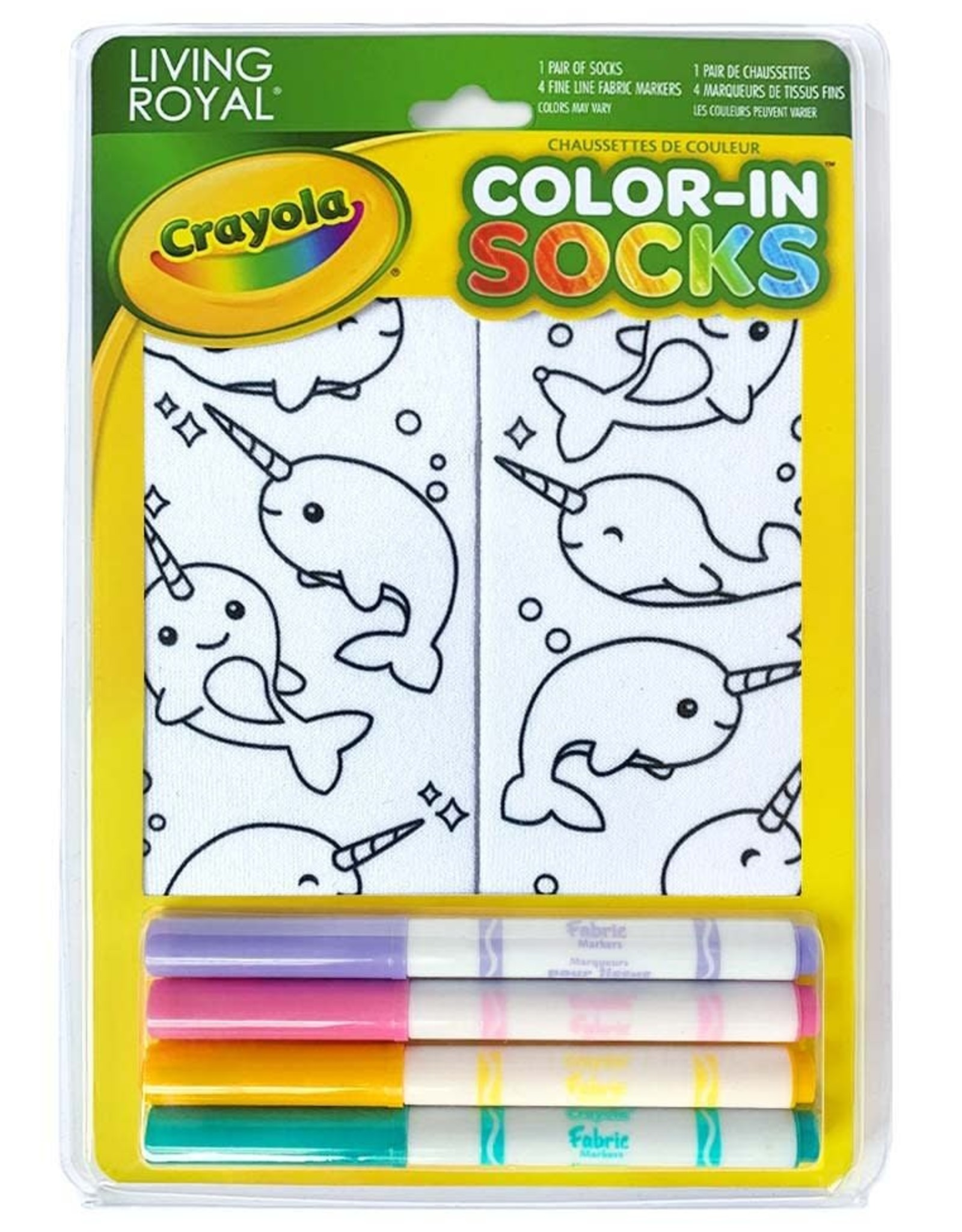 Crayola Color-In Socks: Narwhal Fun