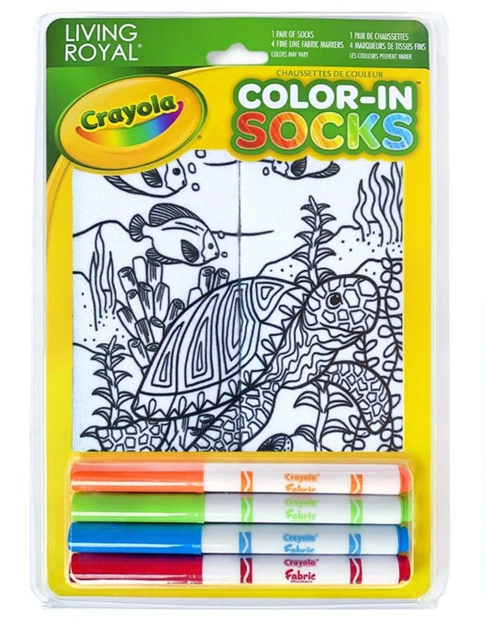 Crayola Color-In Socks: Under the Sea