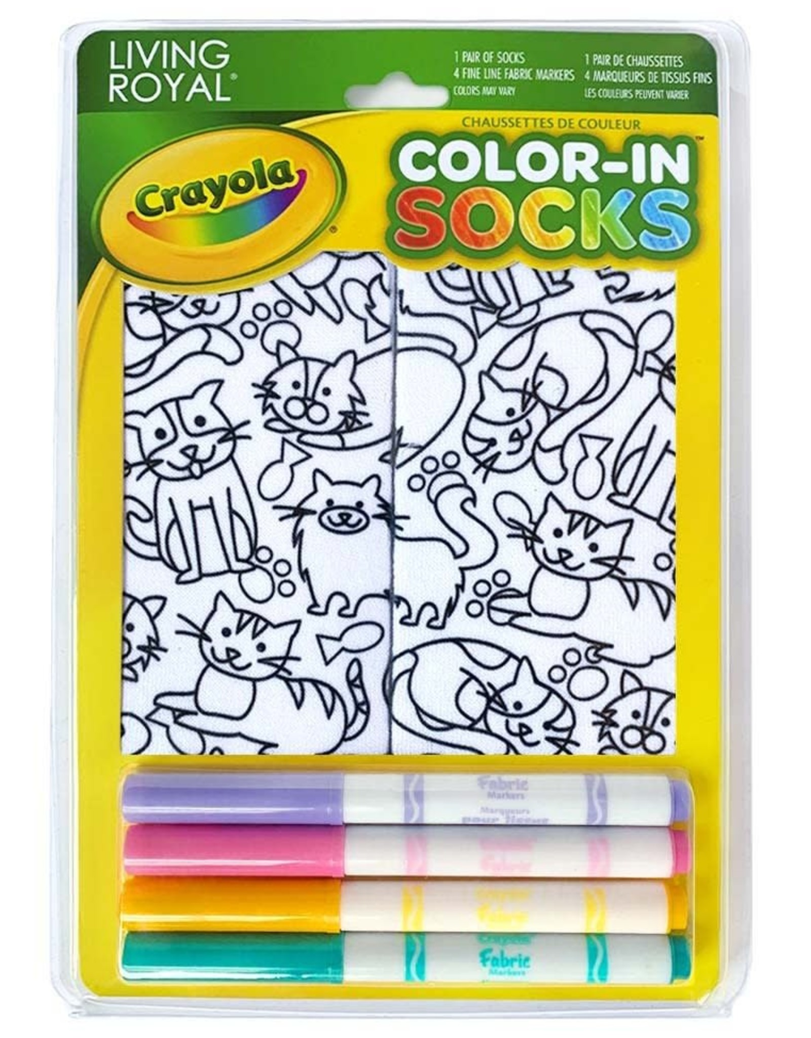 Crayola Color-In Socks: Kittens Galore