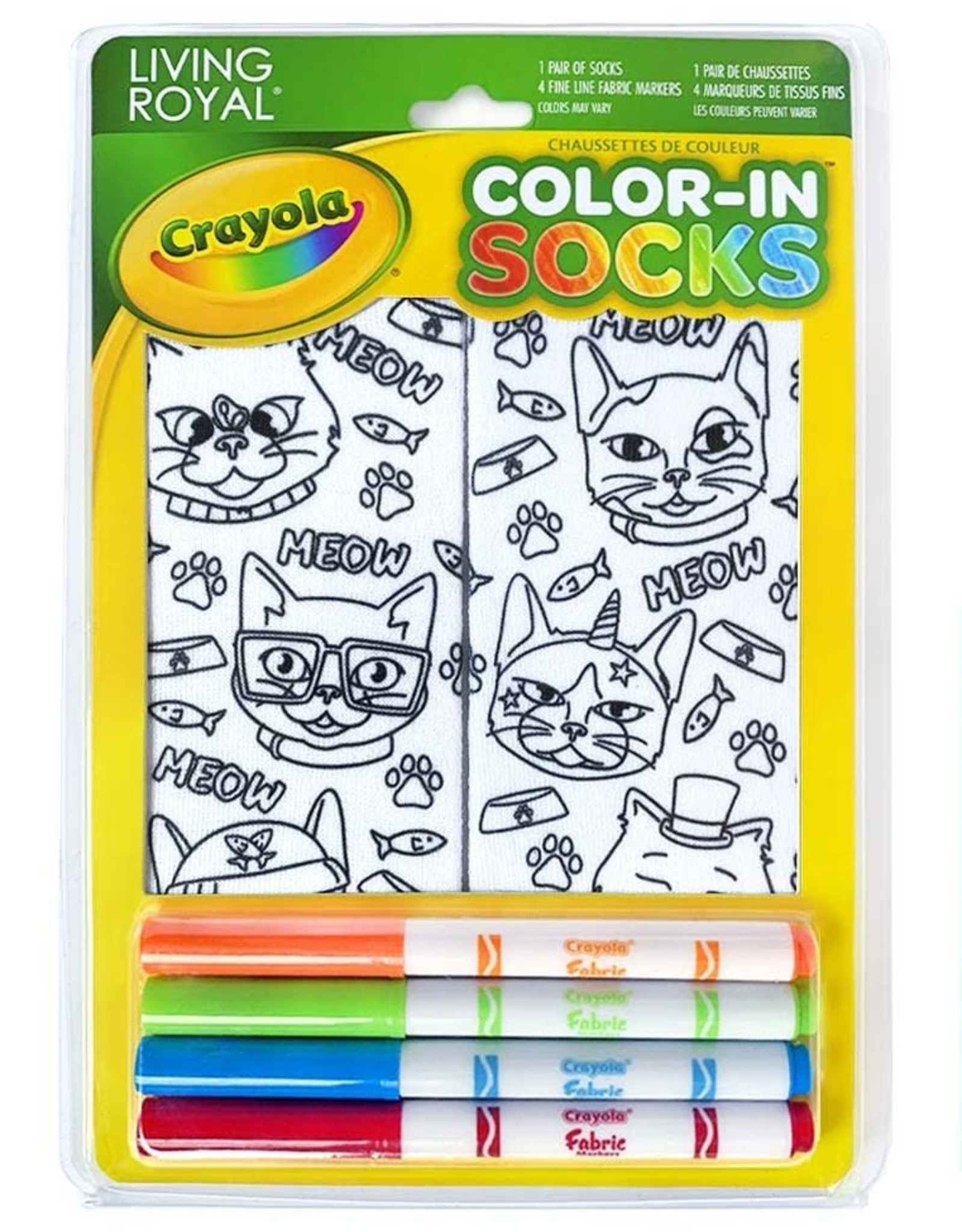 Crayola Color-In Socks: Cat Vibes