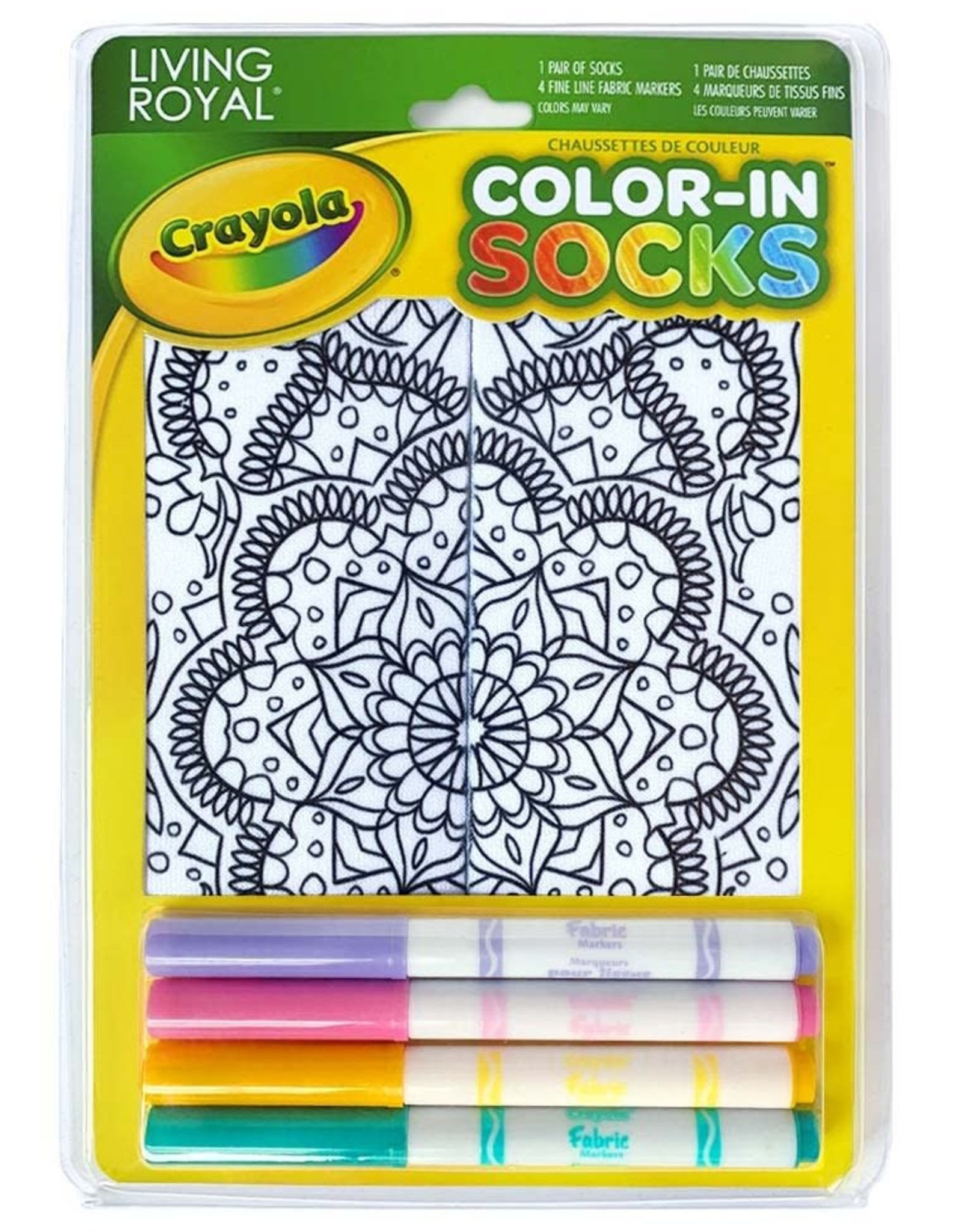 Crayola Color-In Socks: Mandala