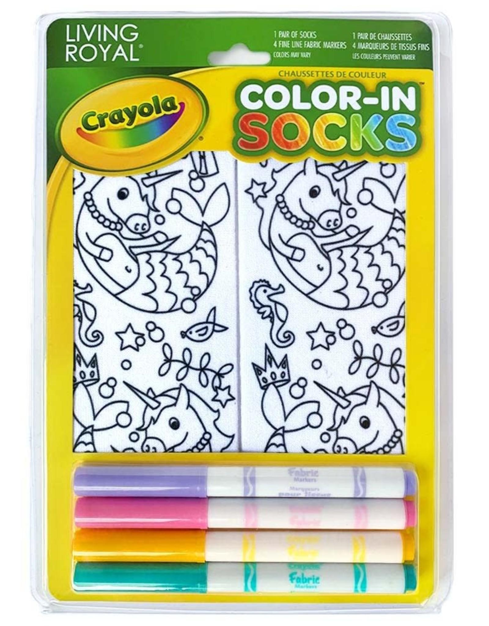 Crayola Color-In Socks: Unicorn Mermaid