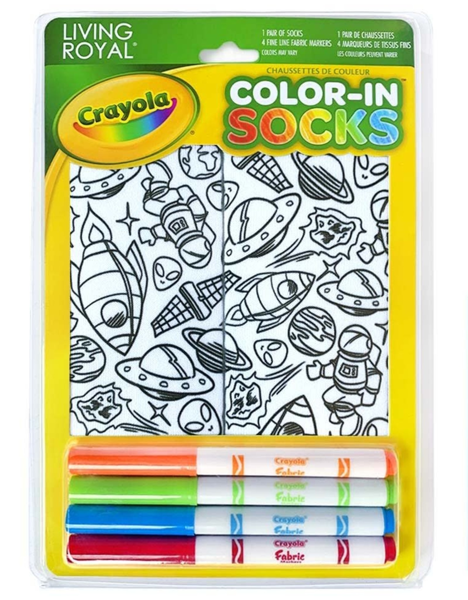 Crayola Color-In Socks: Out of Orbit