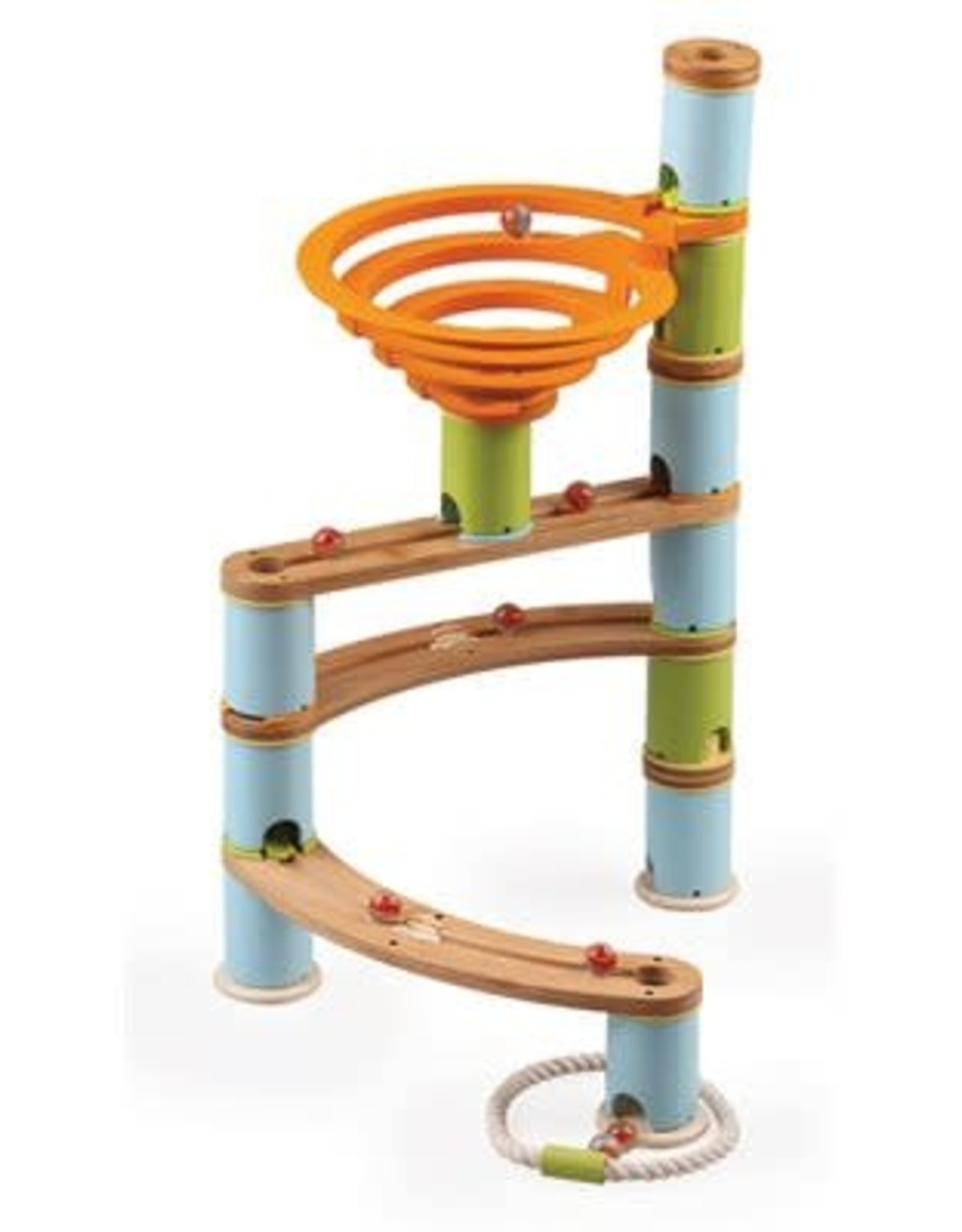 Fat Brain Toys Bamboo Marble Run 78pc