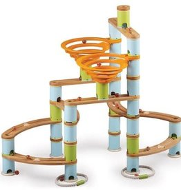 Fat Brain Toys Bamboo Marble Run 168pc