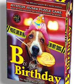 Wood Expressions MYSTERY JIGSAW PUZZLE - B IS FOR BIRTHDAY