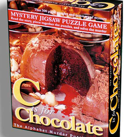 Wood Expressions MYSTERY JIGSAW PUZZLE - C IS FOR CHOCOLATE