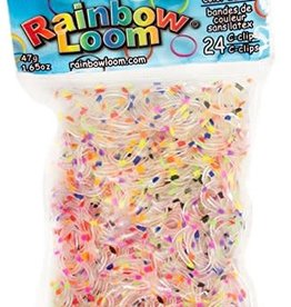 Rainbow Loom Elastics/Clips Jelly 6-Confetti Pack