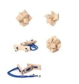 Kikkerland Mystery Matchbox Wooden Puzzle Assorted
