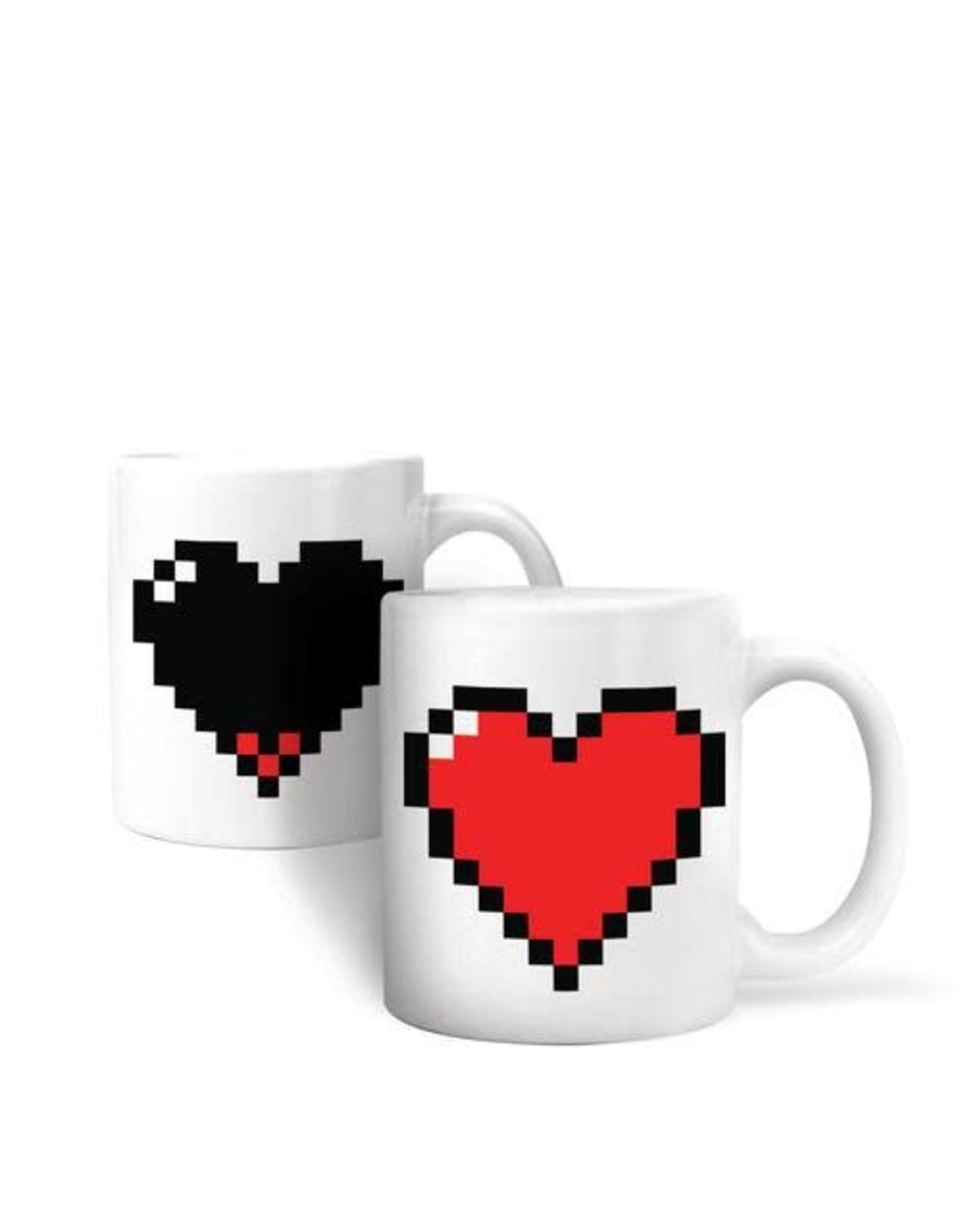 Kikkerland Morph Mug Pixel Heart