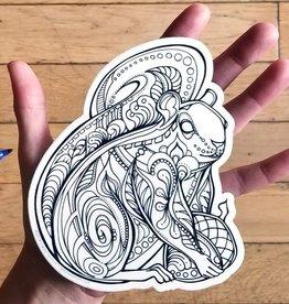 Crystal Salamon Colouring Sticker-Squirrel