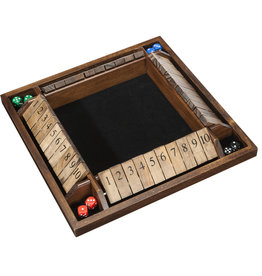 Wood Expressions SHUT THE BOX, 4-PLAYER, WOOD
