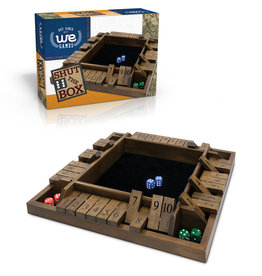 Wood Expressions Shut the Box 4-Player Travel Size