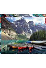 Educa Canoes on Moraine Lake, Banff, Alberta 1000pc