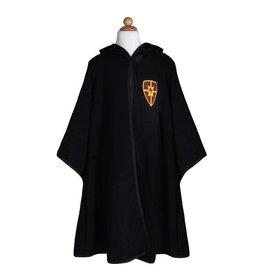 Great Pretenders Wizard Cloak & Glasses, Black, Size 7-8