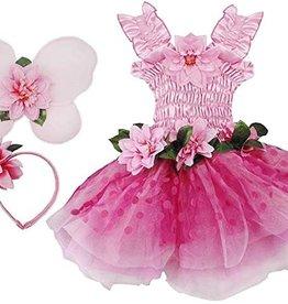 Great Pretenders Fairy Blooms Deluxe Dress, Wings, & HB, Pink, Size 5-6
