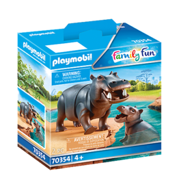 Playmobil Hippo with Calf
