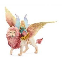 Schleich Bayala Fairy in Flight on Winged Lion
