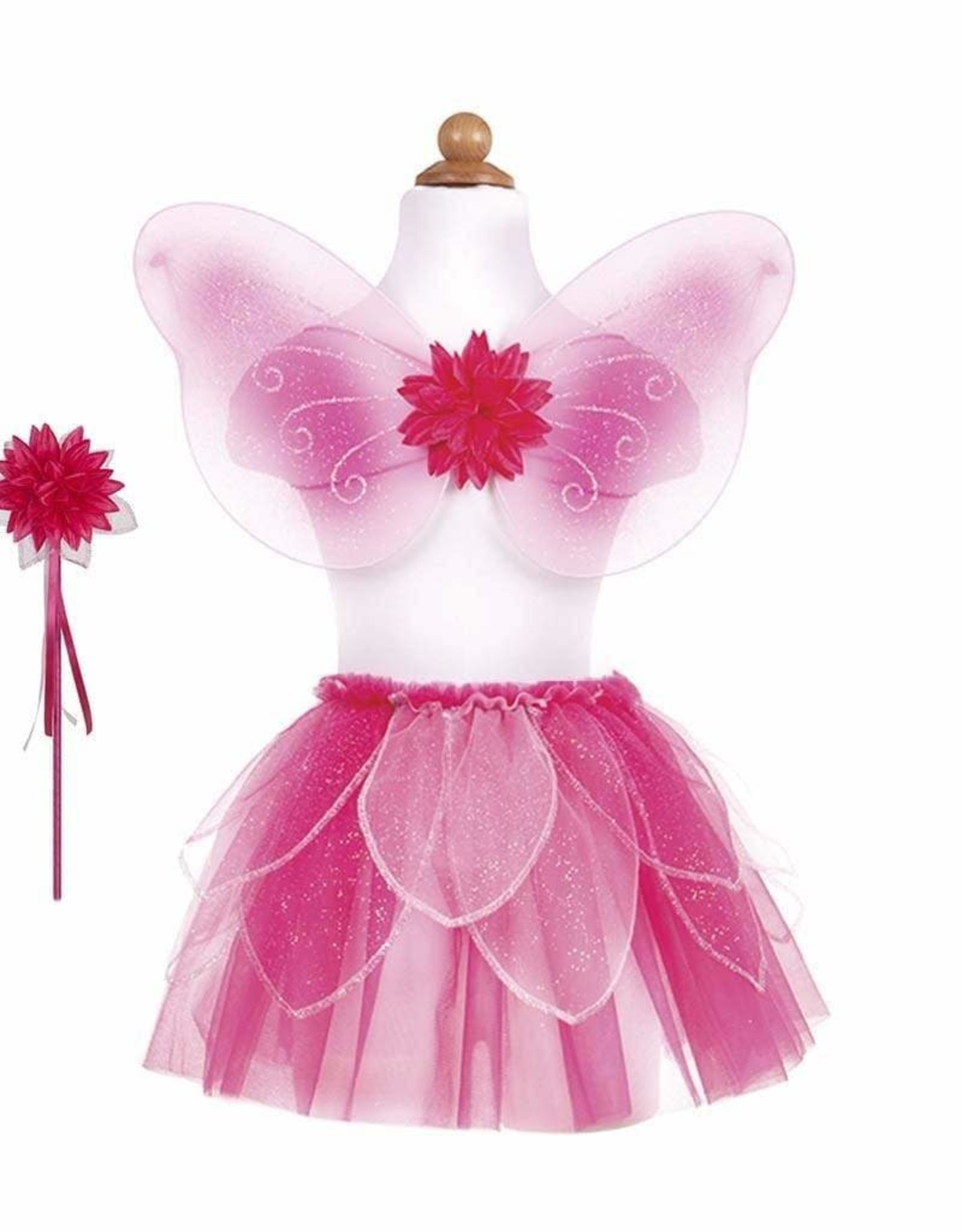 Great Pretenders Fancy Flutter Skirt With Wings & Wand, Pink, Size 4-6