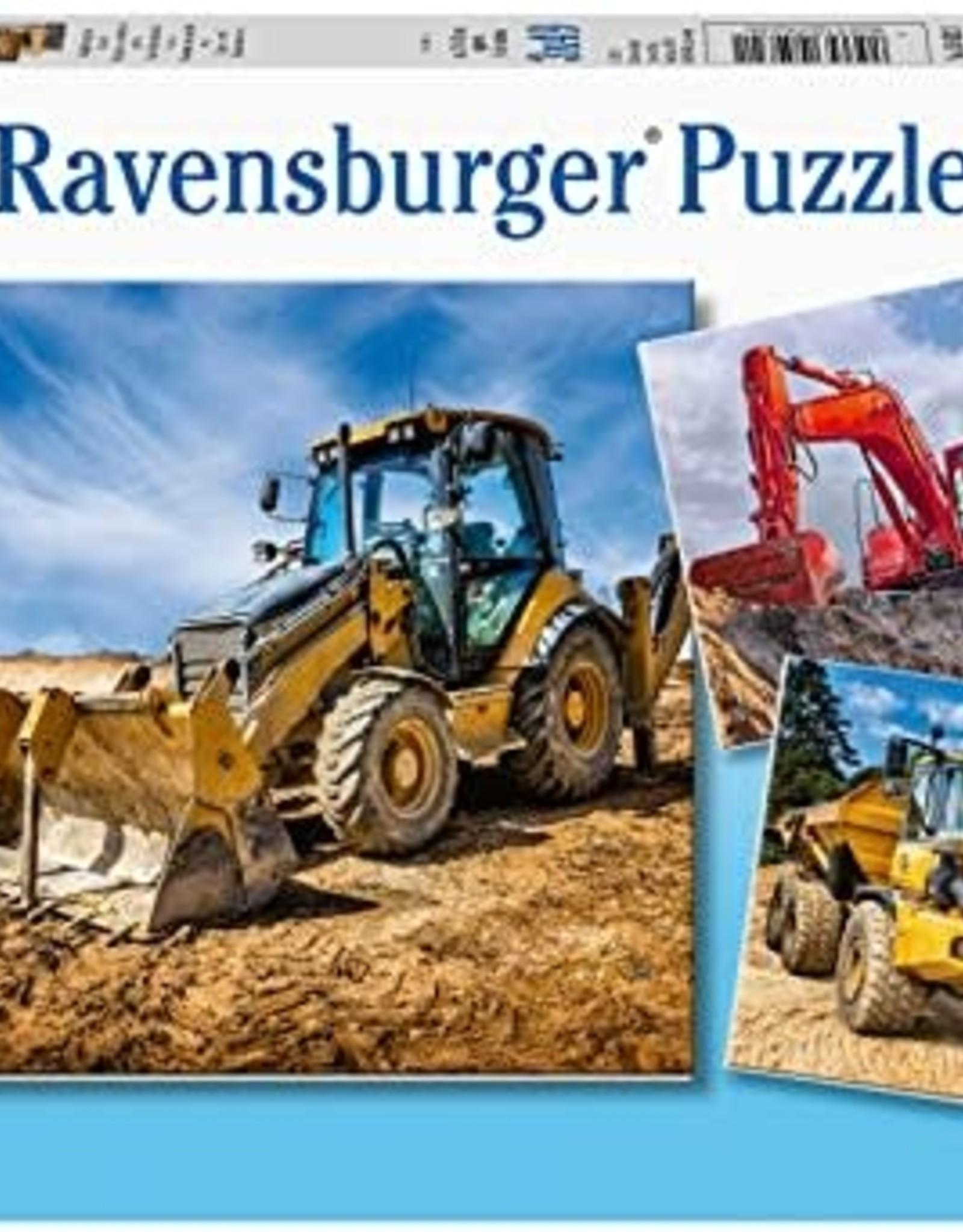 Ravensburger Diggers at Work (3 x 49 pc)