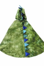 Great Pretenders Dragon Cape with Claws, Green/Blue,  Size 5-6