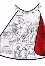 Great Pretenders Colour-A-Cape Reversible Spider Superhero, Size 4-7, Boxed