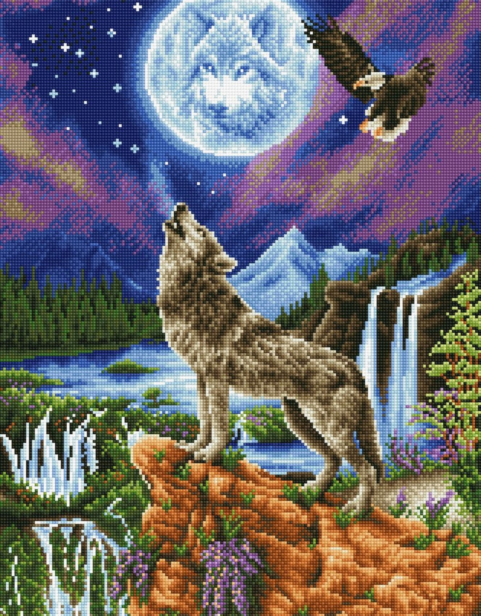 Diamond Dotz Diamond Dotz - Mystic Wolf