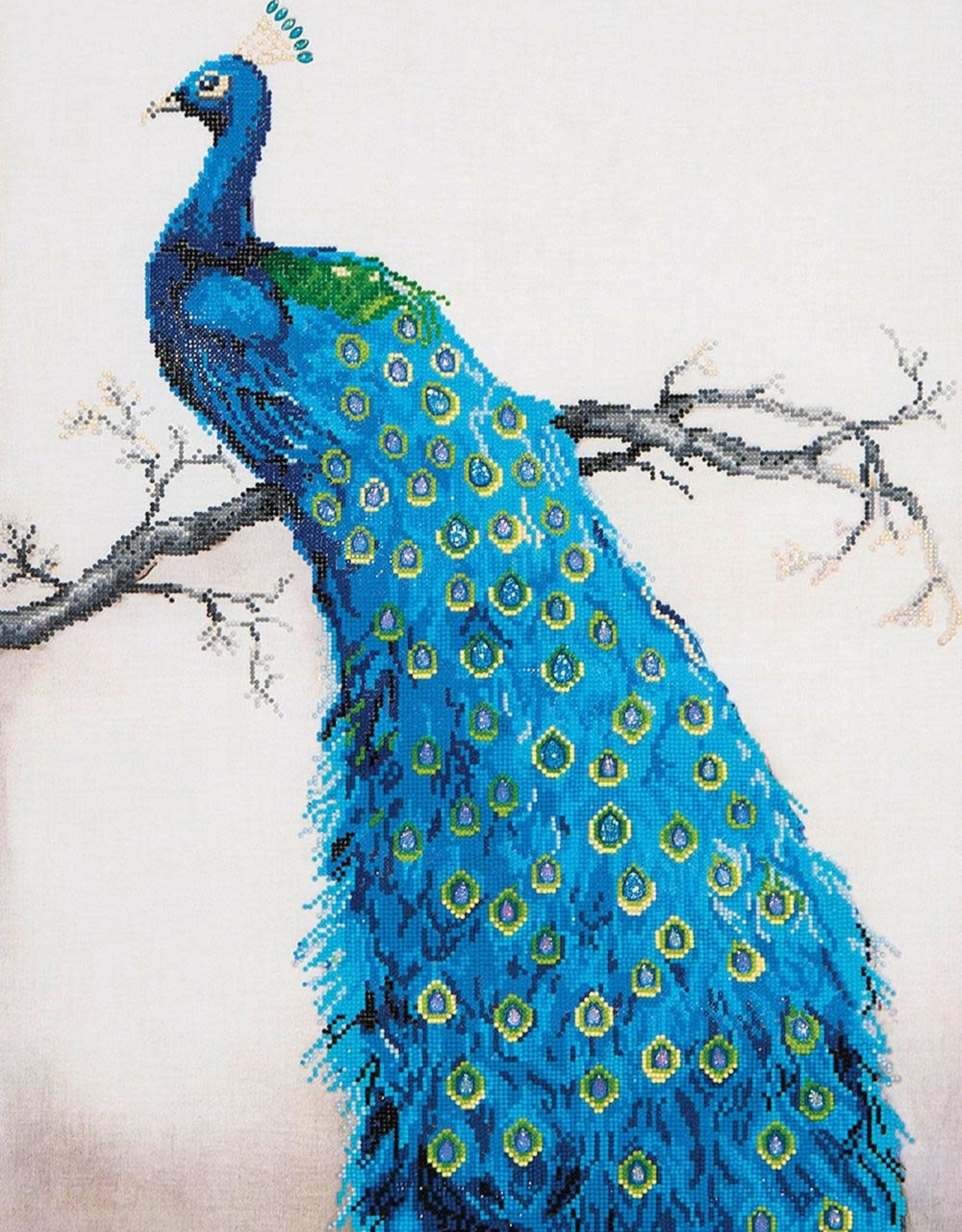 Diamond Dotz Diamond Dotz - Blue Peacock
