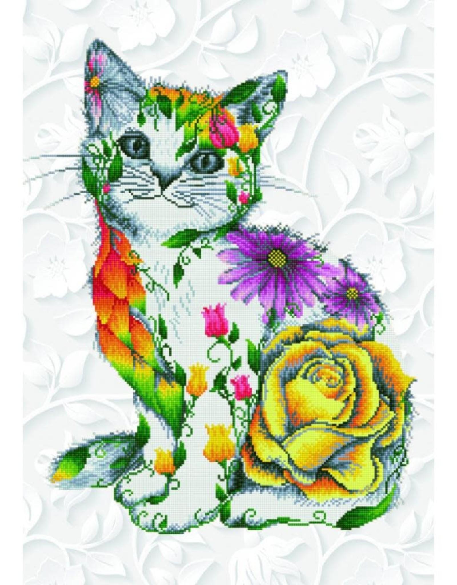 Diamond Dotz Diamond Dotz - Flower Puss