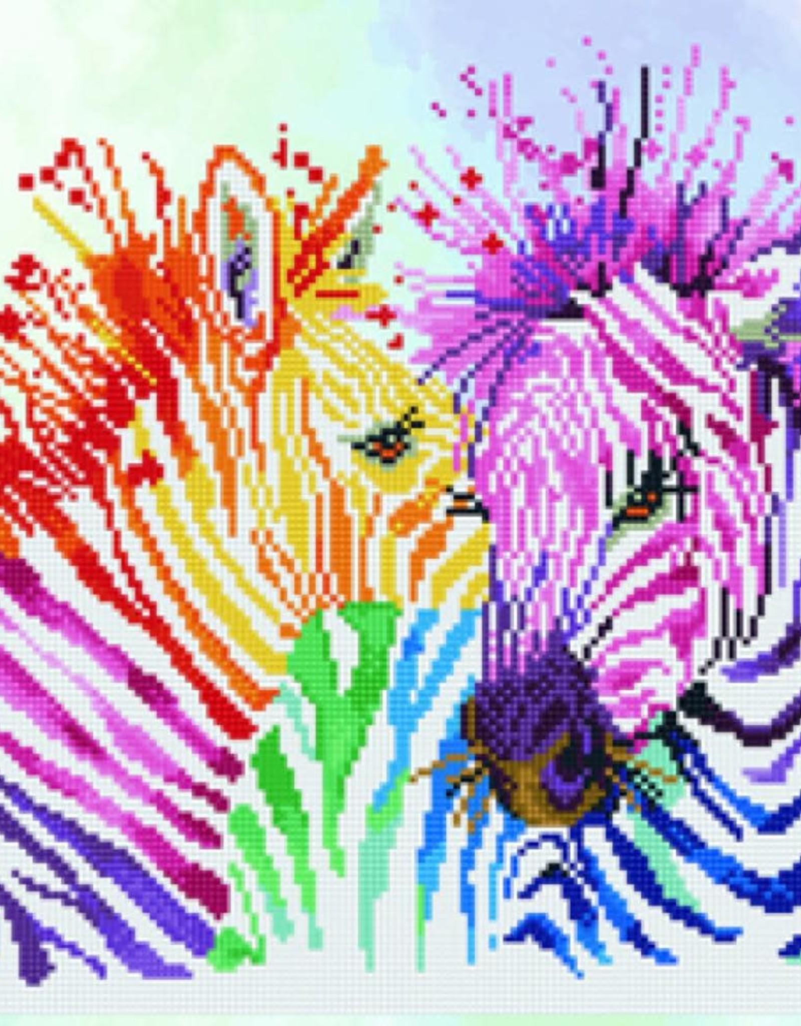 Diamond Dotz Diamond Dotz - Rainbow Zebra
