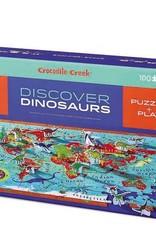 Crocodile Creek 100-PC DISCOVER PUZZLE/DINOSAURS