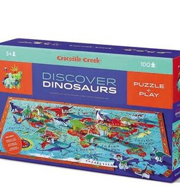 Crocodile Creek 100-PC DISCOVER PUZZLE/DINOSAURS