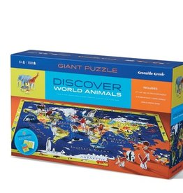 Crocodile Creek 100-PC DISCOVER PUZZLE/WORLD ANIMALS