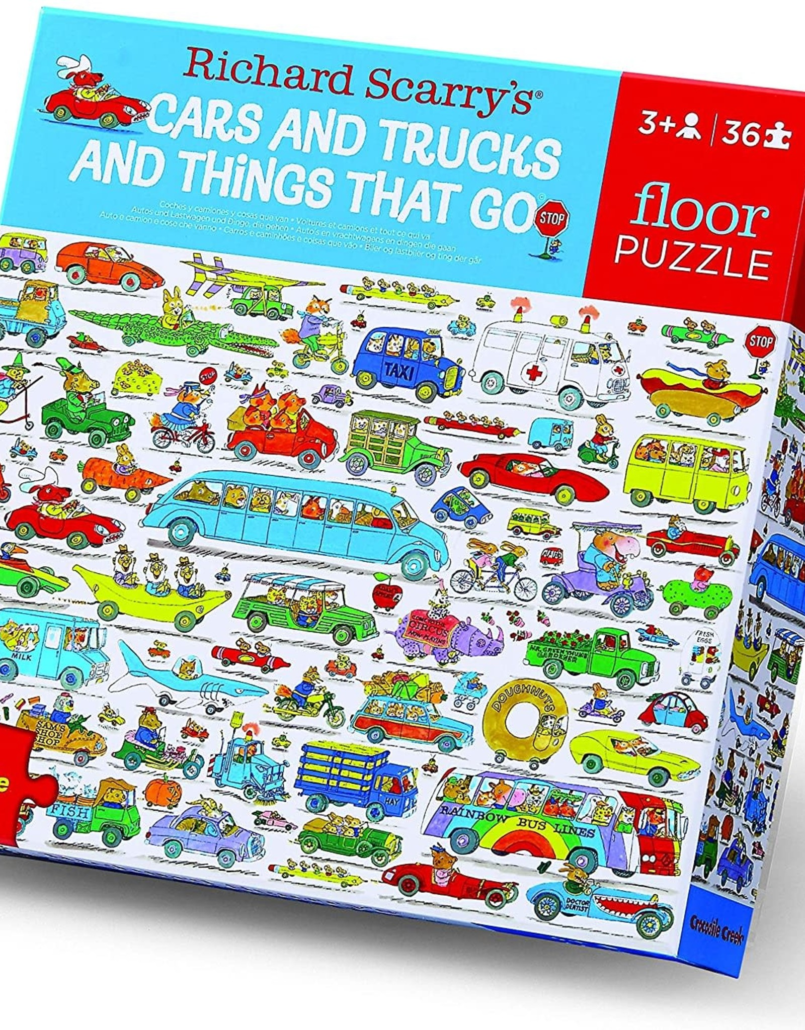Crocodile Creek 36-PC PUZZLE/CARS & TRUCKS AND THINGS THAT GO