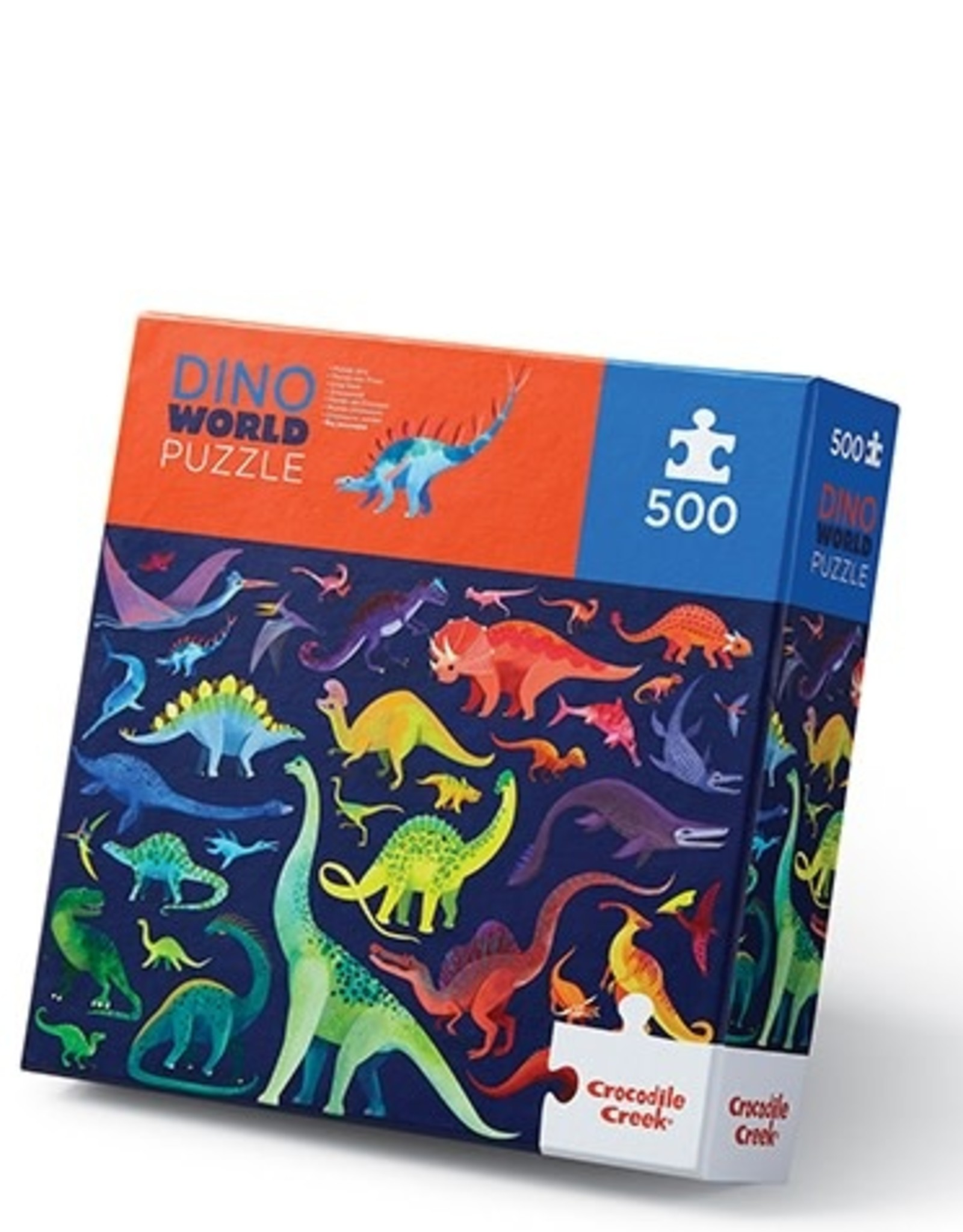 Crocodile Creek 500-PC BOXED/DINO WORLD